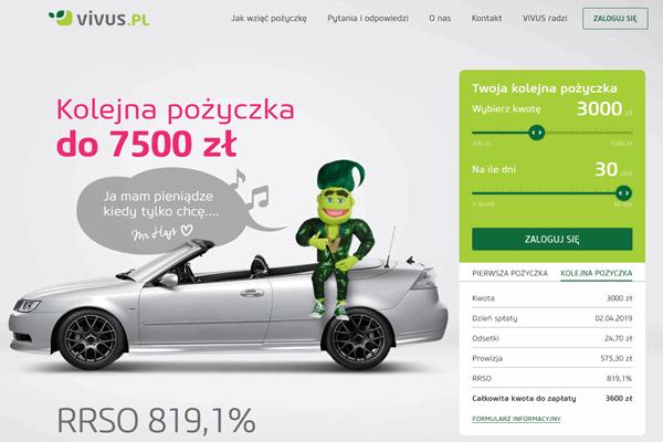 Pożyczka Vivus Kołobrzeg kontakt 887 332 665